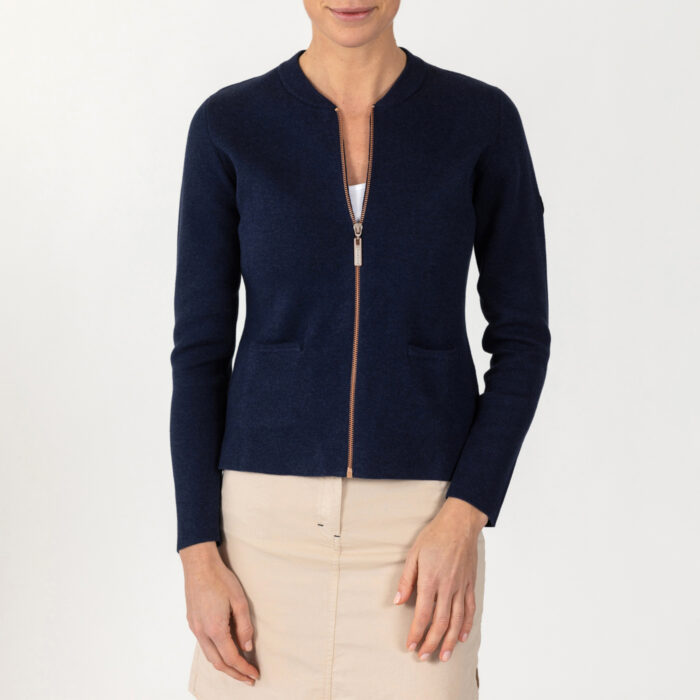 Eleanor Zip Knit Cardigan